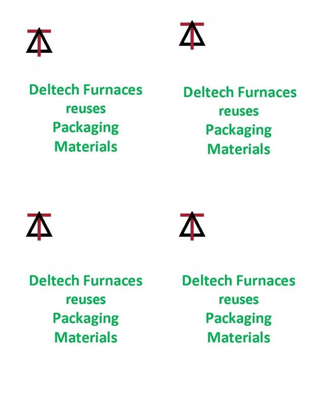 Deltech Furnaces reuses Packaging Materials