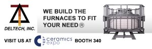Visit Deltech Furnaces at Ceramics Expo 2015