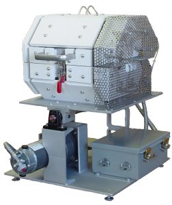 Rocking base horizontal tube furnace custom designed and manufactured by Deltech Furnaces