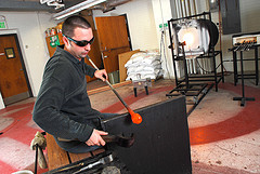 Glass blowing at Missouri S&T. Photo courtesy of Flickr.