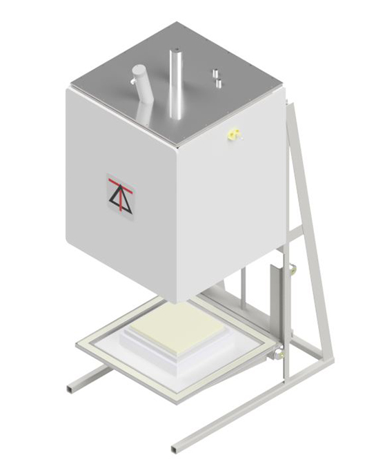 1700 deg C Square Bottom Load Atmosphere Envelope Furnaces with electric lift