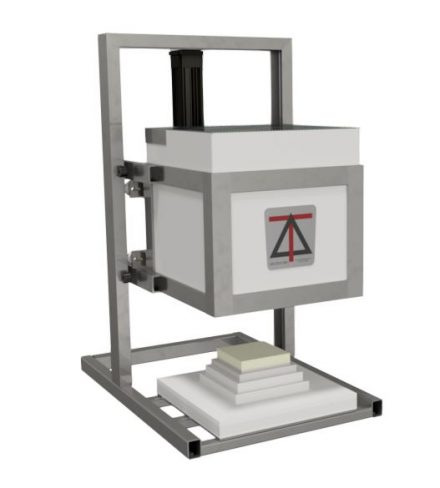 Photo of Deltech top hat lab scale furnace