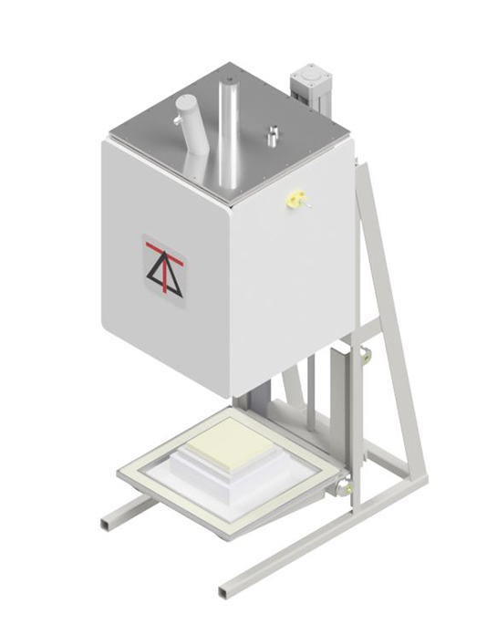 1600 deg C Square Bottom Load Atmosphere Envelope Furnaces with electric lift