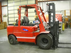 Who knew our forklift was a monster?