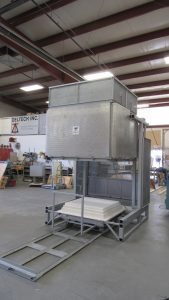 electric top hat production furnace