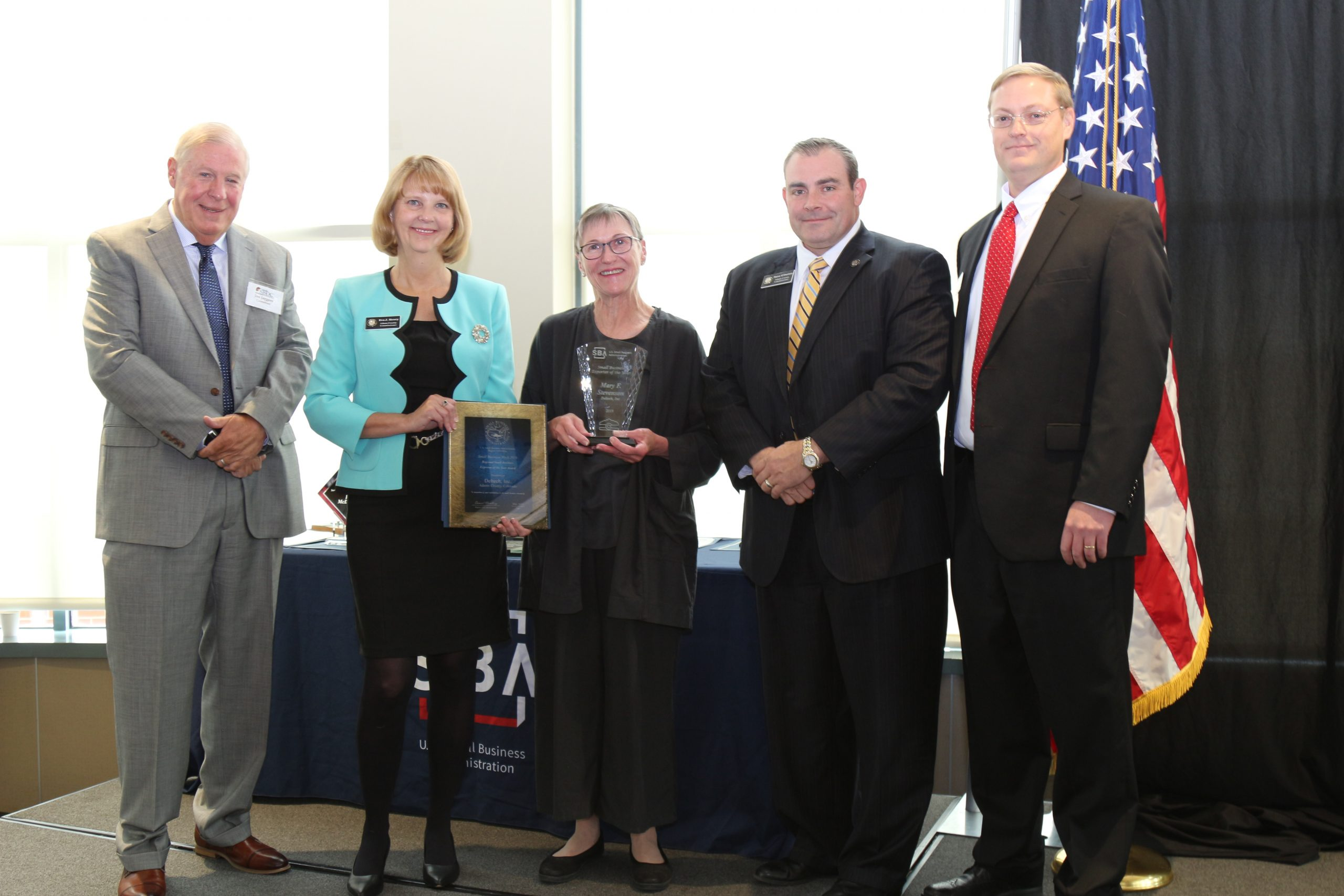 Group at SBA Small Business Week Awards ceremony