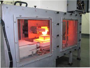 Robotic controlled glass melt furnace