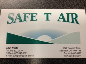 Safe-T-Air, Deltech's new sales representative for Canada