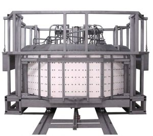 Top Hat Furnace with 10 ft in diameter x 3 ft high workspace built for JPL F.I.R.S.T. project.