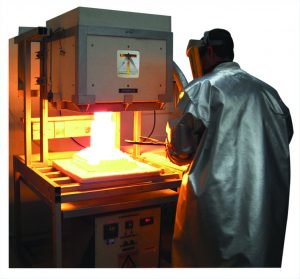Deltech furnace in use in materials science