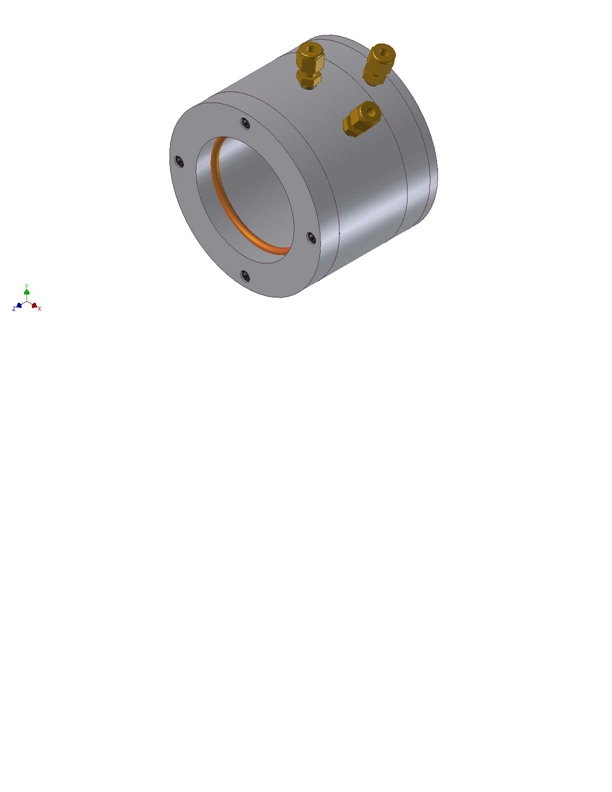 Water cooled tube end cap